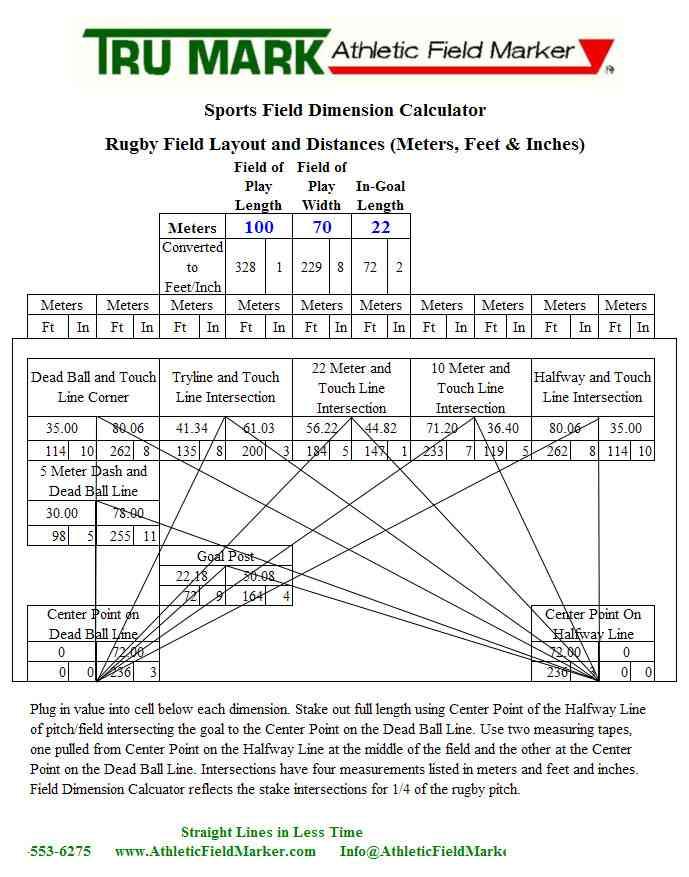 Rugby Field Calculator