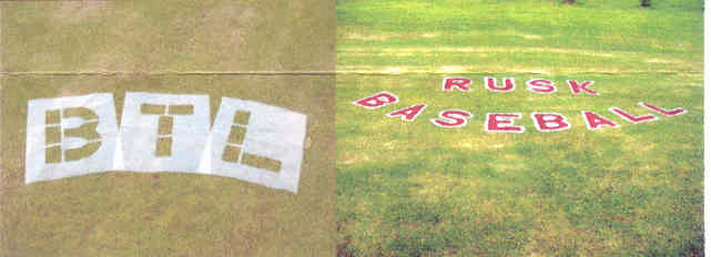 Block End Zone Letter Stencil (16' tall)