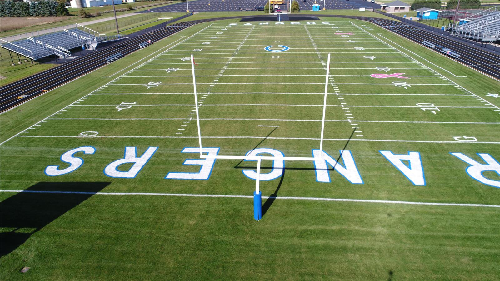 Block End Zone Letter Stencil