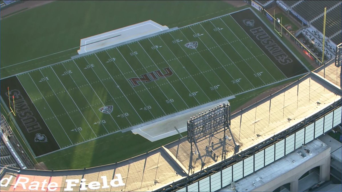 End Zone Layout Stencil with Logo
